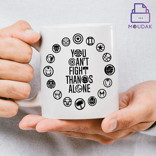You can't fight Thanos Alone Mug D:1