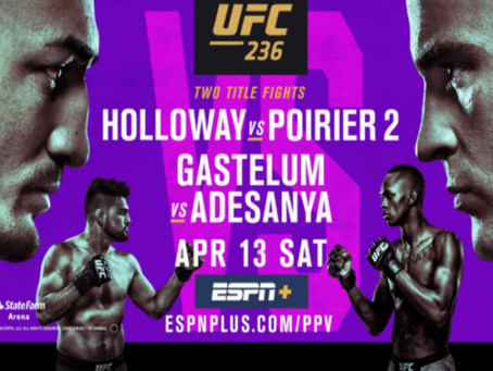"""UFC 236: The Dirty """"I"""" Word"""