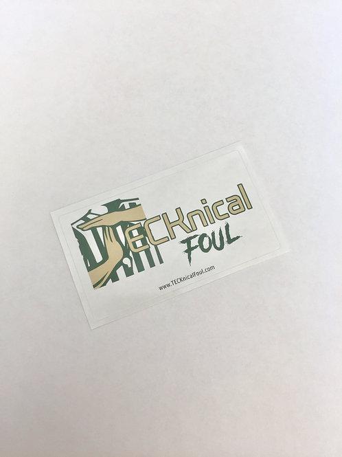TECKnical Foul Sticker