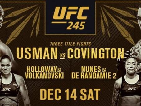 UFC 245: And Still?