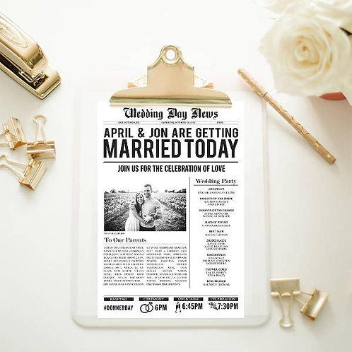 Wedding Newspaper design