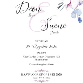 Deon en Suene invite.jpg