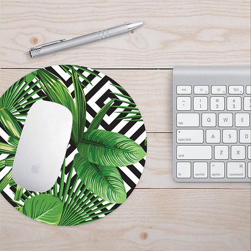 Antibacterial Tropical Pattern Mouse Pad