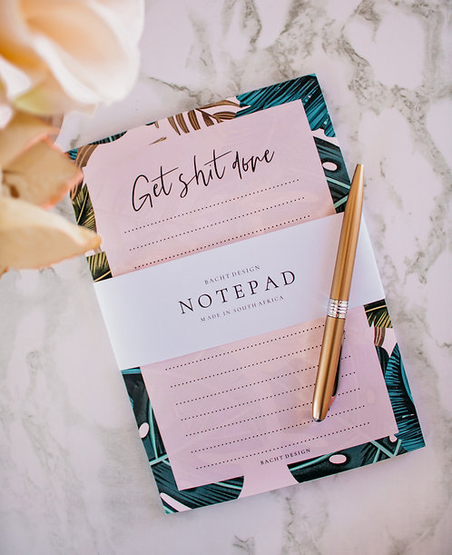 Get Sh*t Done - A5 (Tropical) Notepad