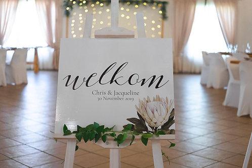 Welcome Board - A1 Correx