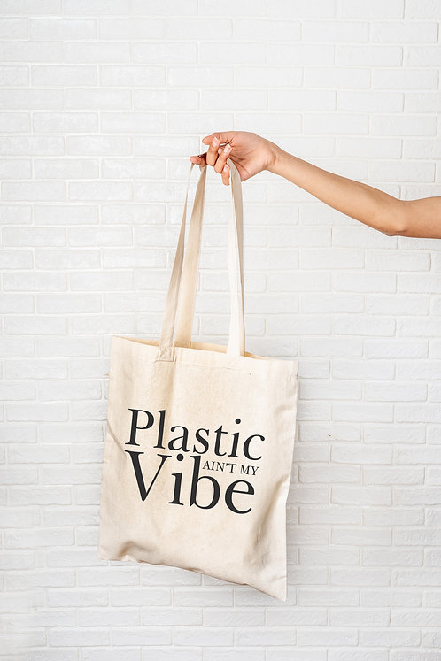 Plastic ain't my vibe tote bag