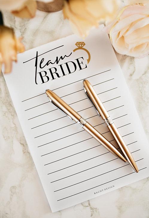 Team Bride - A5 Notepad