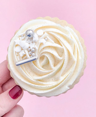 Our Classic Sugar cookie, frosted with c