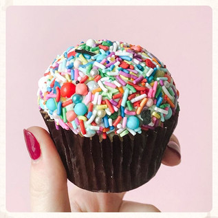 These sprinkle cupcakes ___ We're accept
