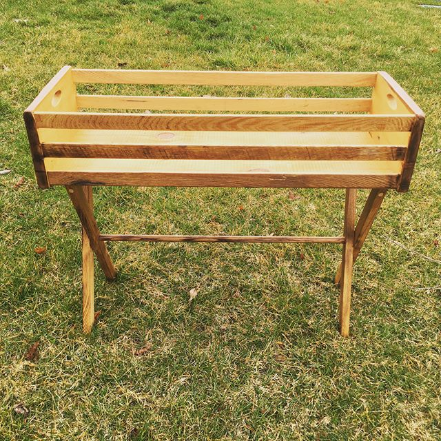 Here is the finished reclaimed planter stand made for a client. 100% reclaimed barn wood. I'm happy