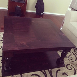 Table done and delivered... happy customer happy maker. Time to start the next one