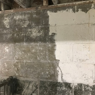 Paint removed from masonry walls