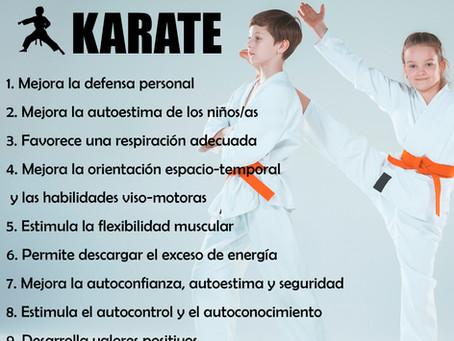 Los 10 beneficios de Karate para niñ@s