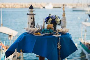 Морской стиль оформления свадьбы на Кипре
