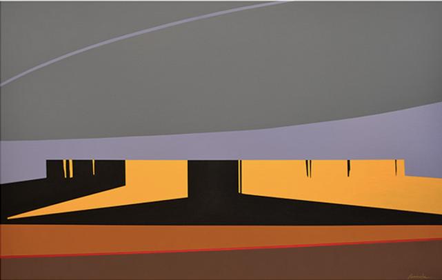 Morning Shadows, Acrylic on Canvas, 30x4