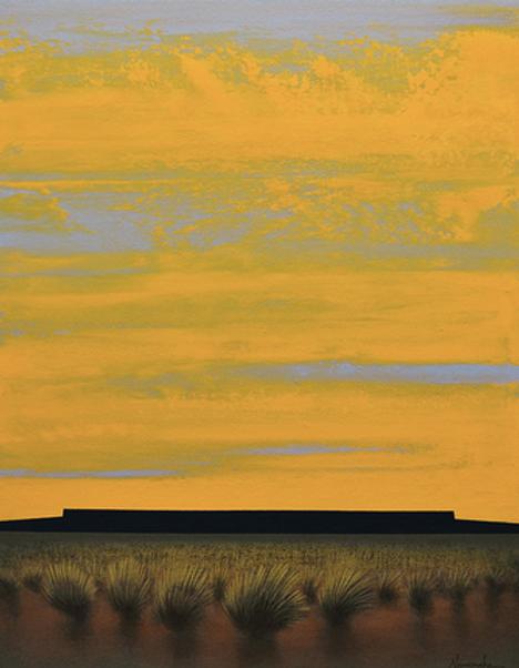 Yellow Horizon 1, Acrylic on Canvas, 30x