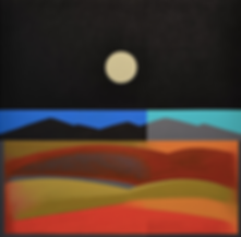 New Mexico Desert Moon, Acrylic on Canva