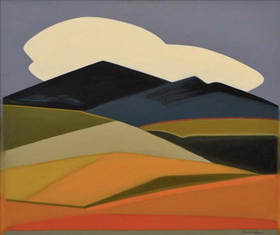 Desert Formation 1, Acrylic on Canvas, 2