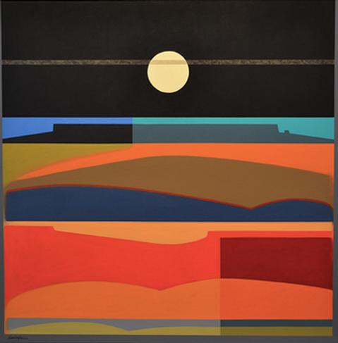 Horizon at Dusk, Acrylic on Canvas, 40x4