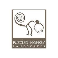 Puzzled Monkey Landscaping Logo