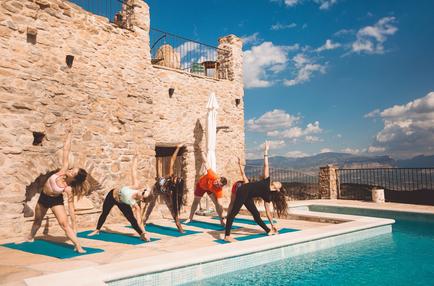 Yoga on the terrace