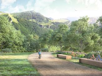 Bikebox, design furniture for Brentonico's park