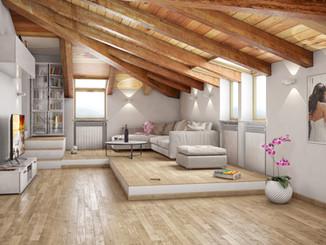Attic renovation in Valenza 01
