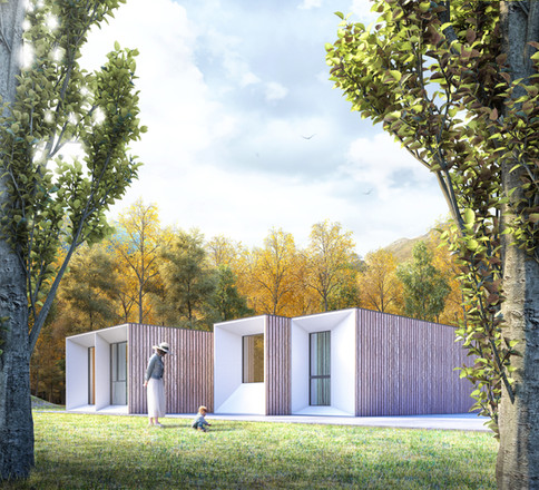 Prefab house for Sanitary's mobility