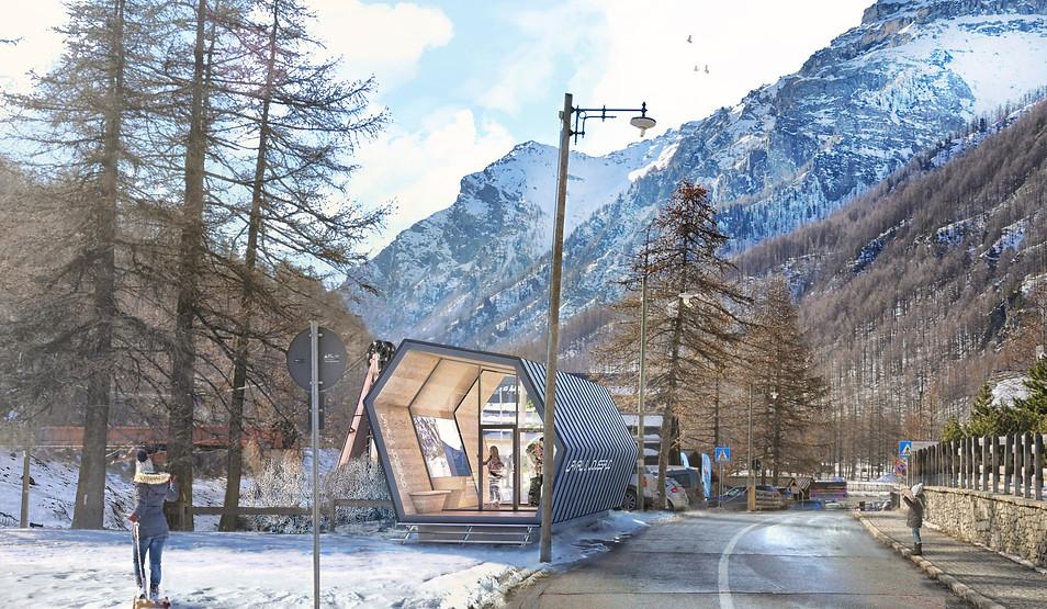 Alpine information point