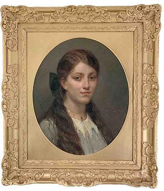 "MAILLART Diogène ""Portrait de jeune fille"""