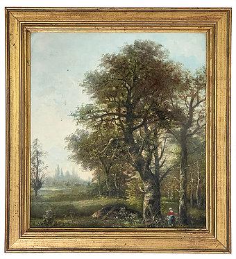"ALLEGRE Raymond ""Cueilleuses en forêt"""
