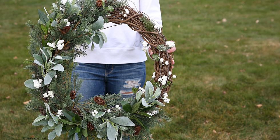 Farmhouse Holiday Wreath Making Class