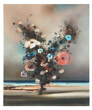 """LOUEDIN Bernard """"Fleurs devant la mer"""""""