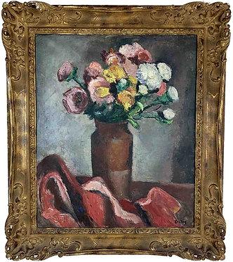"""ORTIZ DE ZARATE Manuel """"Vase de fleurs"""""""