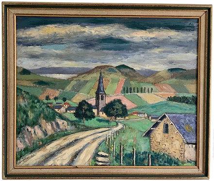 """ALLEAUME Louis  """"Village de montagne"""""""