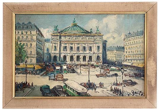 """BARLE Maurice """"Paris - La place de l'Opéra"""""""
