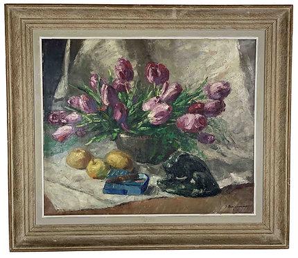 """BERJONNEAU Jehan """"Les tulipes"""""""