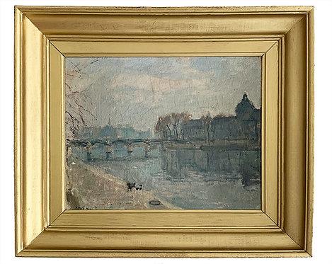 """HERVE Max """"L'Académie Française depuis les quais de Seine"""""""