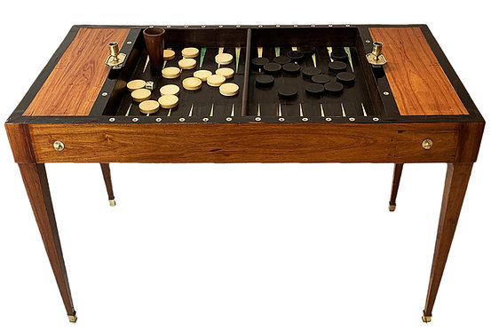 Table Tric-Trac Estampillée POTARANGE en placage de bois de rose.