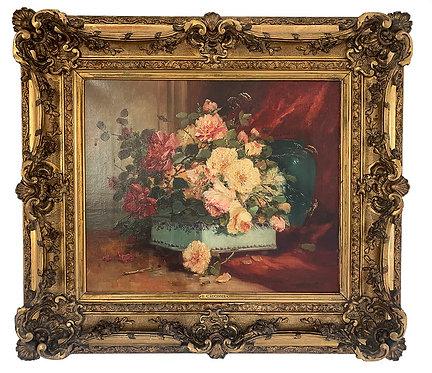 """CAUCHOIS Henri """"Corbeille de fleurs"""""""