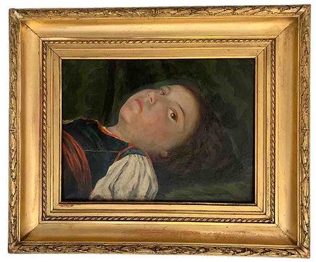 """COURAJOD Alexis """"Jeune fille allongée"""""""