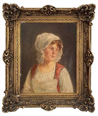 """VALLAYER MOUTET Pauline """"Portrait de jeune fille"""""""