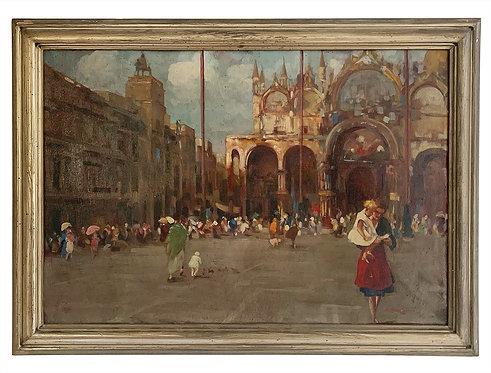 """BOZZATO Attilio Achille """"La place Saint Marc à Venise"""""""