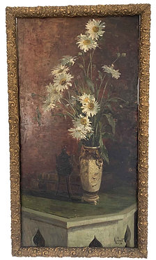 """JACOB Alexandre """"Bouquet de fleurs et brûle parfum"""""""
