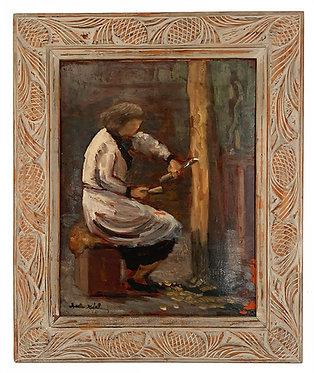 """REAL Charles """"La femme artiste dans son atelier"""""""