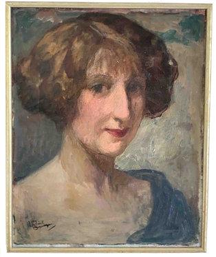 """DOMERGUE Jean-Gabriel """"Portrait de jeune femme"""""""