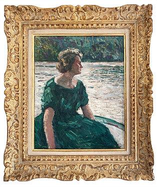 """ZEZZOS Georges """"Portrait au bord de l'eau"""""""