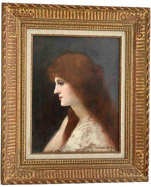 """SAIN Emilie """"Femme rousse"""""""