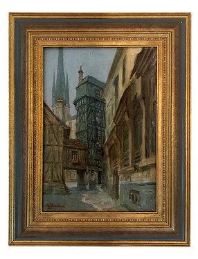 "BOULARD Auguste ""Rouen, rue de Halage"""