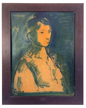 """VIGNY Sylvain """"Portrait de femme"""""""